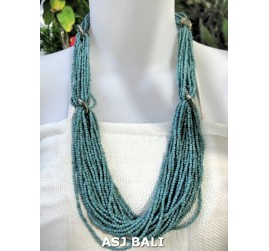 beads necklace multiple seeds fashion turquoise