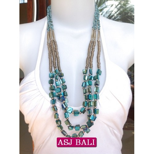 beads shells necklaces bali turquoise color fashion