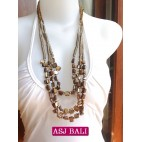 beads shells necklaces gold color bali fashion