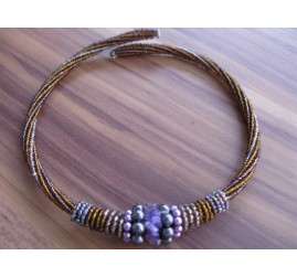 chokers necklaces beads gold color bali