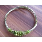 chokers necklaces beads green color bali