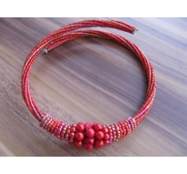 chokers necklaces beads red color bali