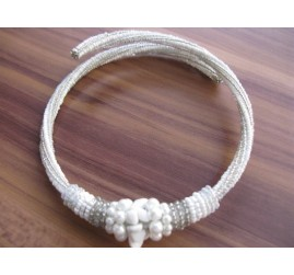 chokers necklaces beads white color bali