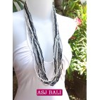 multi strand long mix color necklaces style