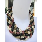 multiple seeds wrapt beads black necklaces chokers