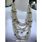 multiple strand necklaces solid natural with stone