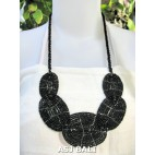 necklaces beads placemate handmade black color