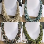 necklaces chokers multi wrapted beads 4color