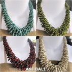 necklaces chokers multi wrapted beads 4color mix