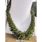 necklaces chokers multi wrapted beads green