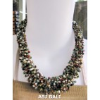 necklaces chokers multi wrapted beads mix color