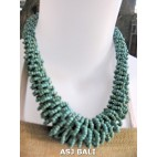 necklaces chokers multi wrapted beads turquoise