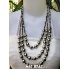 triangle seeds beads necklaces with steel ball mix