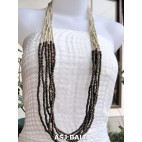 wooden beads long strand necklaces natural handmade