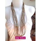 bali necklace bead gold with steel combinations