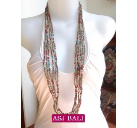 bali necklace mix bead with steel combinations