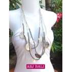 charming beads necklaces triangle seeds beige color