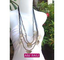 charming beads necklaces triangle seeds black color