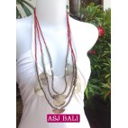 charming beads necklaces triangle seeds red color