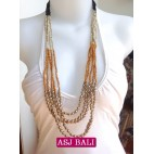 fashion necklaces 3color bead charms combinations charms