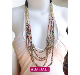 fashion necklaces 3color beaded charms combinations