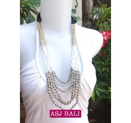fashion necklaces 3color beads charms combinations