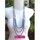 fashion phyrus beads solid purple color necklace