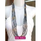 multi strand bead necklaces women style bali