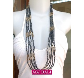 multi strand bead necklaces women style bali