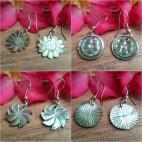 handmade organic seashells hand carving earrings