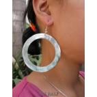 mother pearls seashells black earrings organic