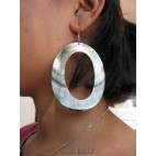 mother pearls seashells earrings organic handmade bali