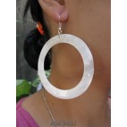 mother pearls seashells earrings white organic handmade