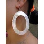 mother pearls seashells white earrings organic
