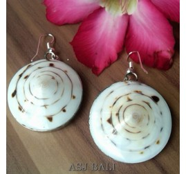 olon shells earrings shells organic with stainless steel bali