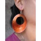 organic seashells color earrings hole orange