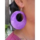 painting seashells earrings hole purple ball