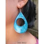 seashells color earrings hole tears turquoise