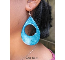 seashells color earrings hole tears turquoise