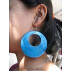 organic painting seashells color earrings hole turquoise around