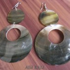 organic seashells black pearls handmade earrings