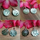4 model seashells hand carved earrings bali