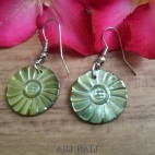 organic seashells hand carved earrings handmade design