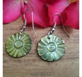 organic seashells hand carved earrings handmade design