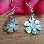 seashells hand carving flower earrings handmade