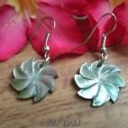 organic seashells hand carving windmill earrings