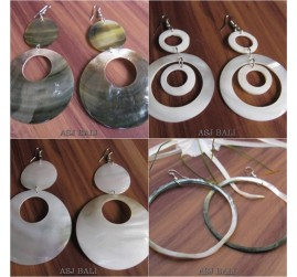 organic seashells mother pearls handmade earrings