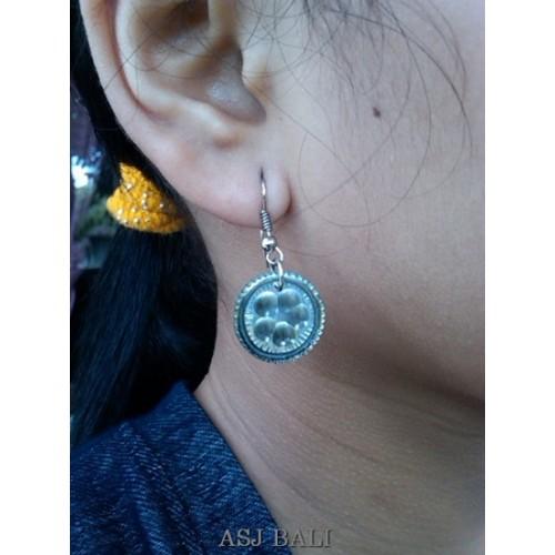 seashells earrings handmade carving unique designs
