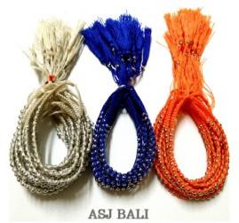 3color hemp bracelets string with beads friendship
