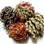 4color leather strings hemp bracelet handmade bali